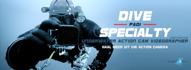 Padi - Underwater Action Cam Videographer - DISTINCTIVE SPECIALTY