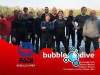 Proficiat Ben, Ruben, Manuel, Jasmien, Koenraad, Brecht, Renaat, Veronique, Dirk en Gregory met jullie PADI Rescue Diver brevet!