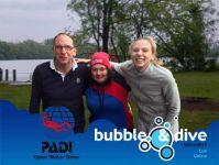 Proficiat Celine en Luc met het behalen van je PADI Open Water Diver brevet!