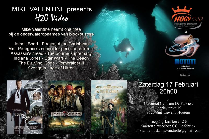 Mike Valentine in CC De Fabriek poster