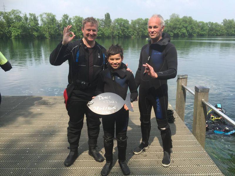 Proficiat Deniz en Dieter met het behalen van jullie Junior Open Water Diver- en Open Water Diver brevet!