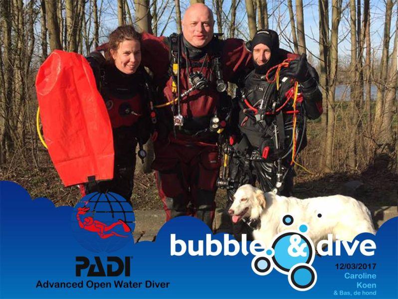 Proficiat Caroline en Koen met het behalen van jullie PADI Advanced Open Water Diver brevet!