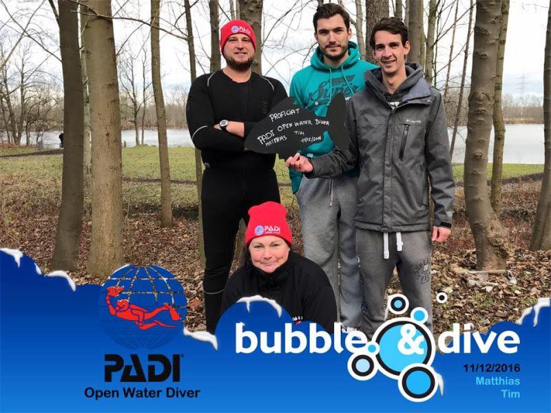 Proficiat Matthias en Tim met het behalen van jullie Open Water Diver brevet!