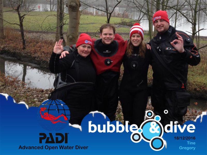 Proficiat Tine en Gregory met het behalen van jullie Advanced Open Water Diver brevet!