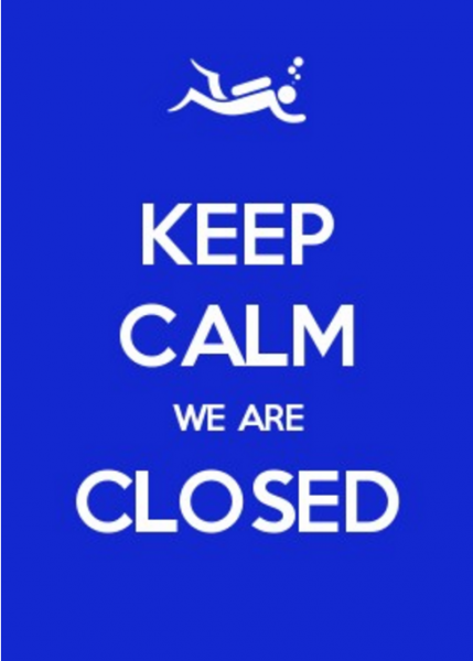 keep calm we are closed