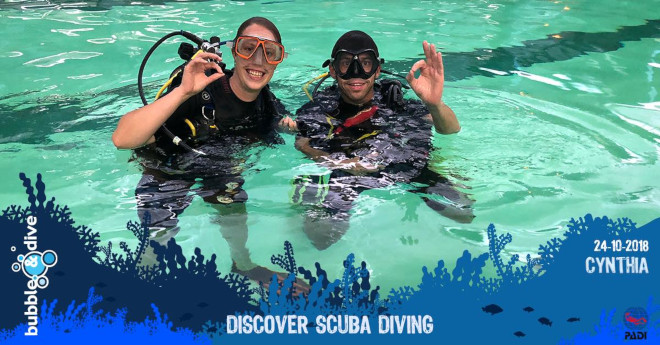 Proficiat Cynthia met je Discover Scuba Diving experience!