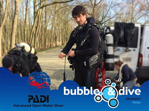 Congratulations Victor for becoming a  PADI Advanced Open Water Diver!